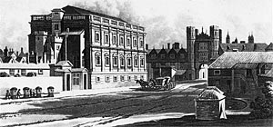 Whitehall Palace with the Banqueting House in 1669